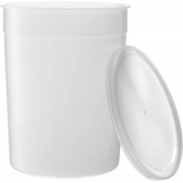 1 Gallon Plastic Container with Cover