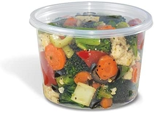 16 oz. Plastic Container with Covers 50 Ct.