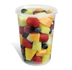 32 oz. Plastic Container with Covers 25 Ct.