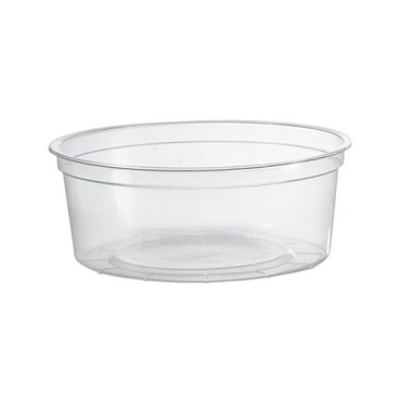 8 oz. Plastic Container with Covers 50 Ct.